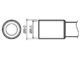 Размеры сменного наконечника Hakko N4-04