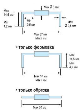 Формовка и обрезка выводов устройством Hakko 154
